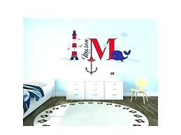 wall decals nautical lighthouse decal and custom name initial anchor theme baby for wall decals nautical