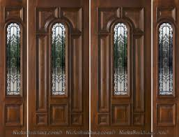 Double front door with sidelights Craftsman Style Nicks Building Supply Exterior Double Doors With Sidelights Solid Mahogany Doors