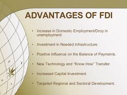 foreign direct investment in 26 advantages of fdi