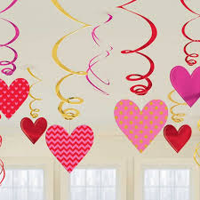 valentines office decorations. 12 X Valentines Hearts Hanging Swirls Decorations Bumper Value Pack FREE P\u0026P Office N