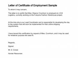 Request Letter Format For Certificate Of Employment Best Resume
