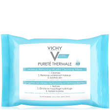 vichy pureté thermale 3 in 1 micellar cleansing water makeup remover wipes with vitamin e 13 52 fl oz at skincarerx
