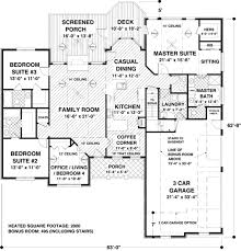 ranch style house plan 4 beds 3 50 baths 2000 sqft 56 574 square foot plans