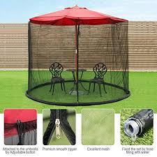 patio umbrella with zipper mesh screen