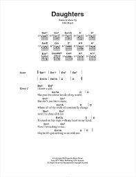 color my world sheet music daughters sheet music by john mayer lyrics chords 48765