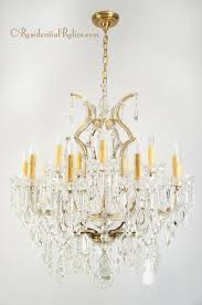 large maria theresa cut crystal chandelier circa 1940s