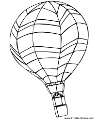 Small Picture Hot Air Balloon Coloring Page