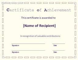 Attendance Award Template Sample Of Certificate Achievement Template Attendance Award