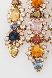 spectacular multicolor sapphires diamonds chandelier earrings