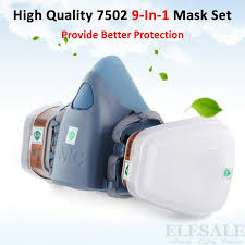 new 9 in 1 7502 half face dust mask painting spraying gas respirator dual filters for industrial work safety house clean masks jpg