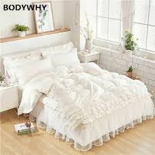 bed skirt valance white super king size