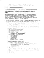 Self Assessment - Writing & Communication Center - Uw Bothell