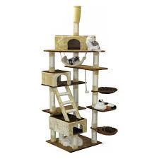 Go Pet Club Beige and Brown Cat Furniture Condo Tree - 92 in. Walmart.com in