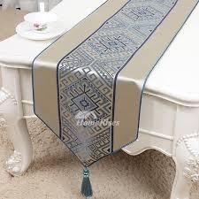 designer brown blue table runner