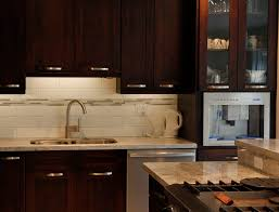 kitchen backsplash glass tile dark cabinets. Exciting Espresso Kitchen Cabinets For Your Remodeling Ideas: Chic Mahogany Veneer Backsplash Glass Tile Dark G