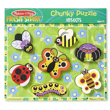 000772037297 melissa doug insects wooden chunky puzzle
