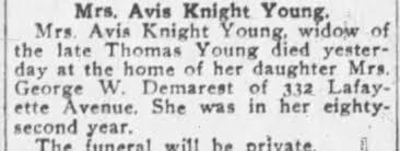 Obituary for Avis Knight Young - Newspapers.com