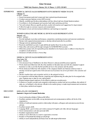 skills for sales representative resume medical device sales representative resume samples velvet jobs