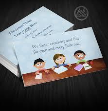 Homework Kids Blue Business Cards Samples