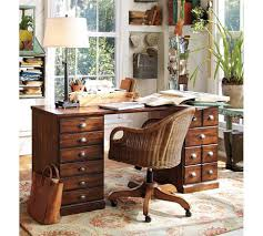 pottery barn bench style office desk rustic. Pottery-barn-printers-desk-wood-rustic Pottery Barn Bench Style Office Desk Rustic