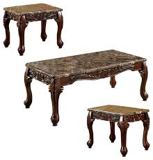 wooden coffee table and end tables set
