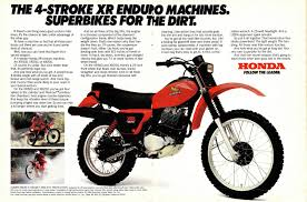 honda xr500 several features of the xr chassis combine to give the xr very unusual handling characteristics honda is still the only manufacturer offering a 23 inch