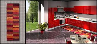 red kitchen rugs. Awesome Orange Striped Rugs Decoration On Ceramic Tile Floor Kitchen As Well Red Paint Cabinet White Granite Countertop Backsplash Also