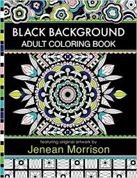 amazon black background coloring book 60 coloring pages featuring mandalas geometric designs flowers and repeat patterns with stunning black
