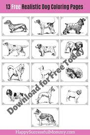 Kids can play with an array of colors and paint on these sketches which may appear both cartoonish as well as realistic. 13 Free Dog Coloring Pages Realistic Images To Print