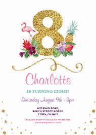8th Birthday Party Invitations 8th Birthday Invitations Zazzle Uk