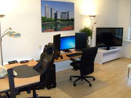 office rooms ideas. Cool And Modern Computer Room Decor Ideas : Fancy With Simple Desk Executive High Back Office Chair Also Wood Grain Rollable Rooms