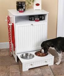Furniture: DIY Hanging Dog Feeder - Dog Food Stand