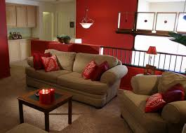 Red accent wall living room simple home decoration Decorating with red  accents