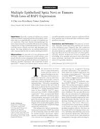 multiple epithelioid spitz nevi or tumors loss of bap first page pdf preview