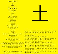 Earth element feng shui information card