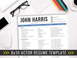 8x10 Actor Resume Template