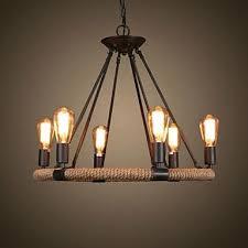 dining room lighting ideas ceiling rope. retro 6 lamp hemp rope chandelier country style u2013 cad 30023 dining room lighting ideas ceiling e