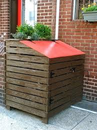 attractive outdoor trash can storage outdoor ideas for outdoor trash can storage ideas
