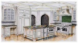 kitchen drawing perspective. Simple Kitchen Kitchen Drawing Perspective Drawn Rendered 2 Perspective In Kitchen Drawing Perspective 2
