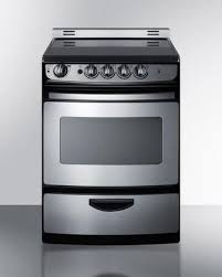 stove 24 inch. summit rex245ssrt 24 inch slide-in electric range with smoothtop cooktop, 3.0 cu. ft. primary oven capacity, storage in stainless steel | appliances stove 2