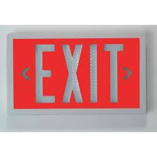 Isolite Lighting Isolite Slx60 S R 20 Wh U Self Luminous Exit Sign White