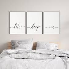 bedroom wall decor over bed lets sleep