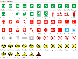 evacuation floor plan symbols