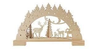 Weihnachts Lichterbogen Led Wald Deko Fensterdeko