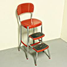 vintage stool step stool kitchen stool cosco chair pull out steps red metal chrome