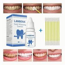 real diy teeth whitening lanbena zähne bleaching essenz pulver hygiene reinig serum