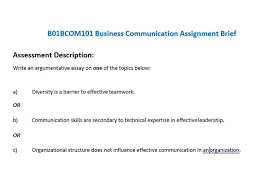 bbcom business communication assignment brief oz help business communication assignment brief