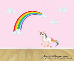 rainbow unicorn wall decal unicorn wall sticker rainbow wall intended for rainbow wall decals removable canada x cute wall rainbow wall stickers large