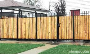 Wood and metal privacy fence Galvanized Wooden Fence With Metal Post Wood And Metal Privacy Fence Top Metal Fence Post With Wood Wooden Fence With Metal Yorokobaseyainfo Wooden Fence With Metal Post Fencing With Metal Posts Wood Fence