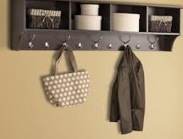Black Wood Wall Coat Rack shelf White Wooden Coat Racks With Shelf And Three Black Metal 60
